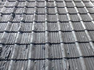 <p>屋根瓦は、色褪せ・剥がれが見受けられました。