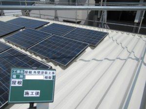 <p>十分に乾燥させ屋根は、完工です。