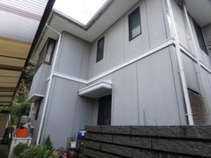 <p>爽やかなグレーのサイディング外壁です。