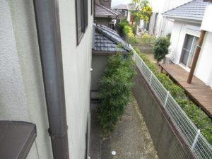 <p>附帯部(雨樋・破風板など)も退色していました。