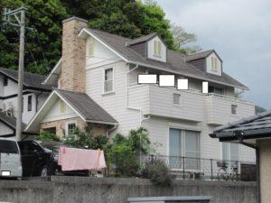 <p>屋根・外壁塗装工事の現場調査にお伺いしました。