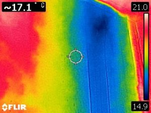 <p>赤外線カメラで漏水確認